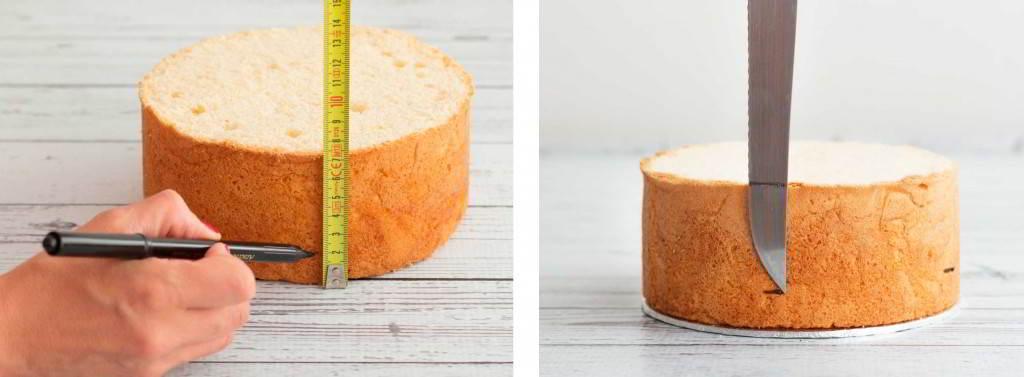 cómo rellenar una tarta para forrarla con fondant