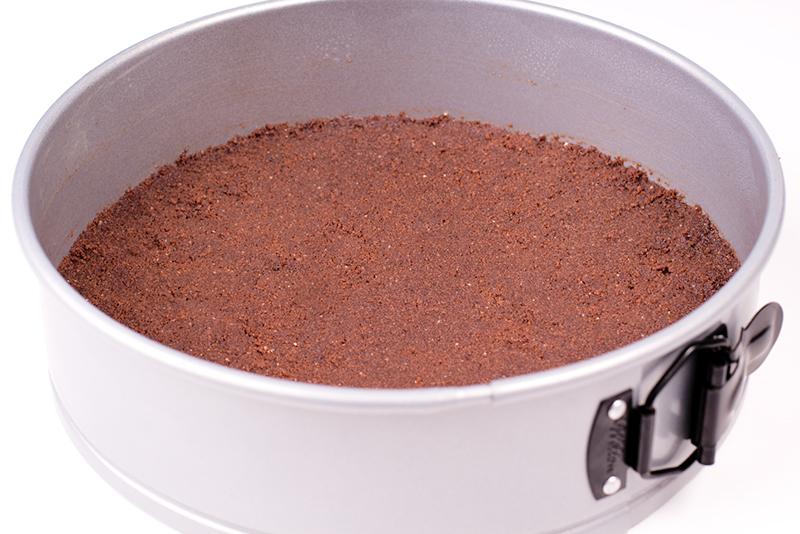 Baño Blanco Para Tartas:Para la base de la tarta de queso de chocolate blanco y fruta de la