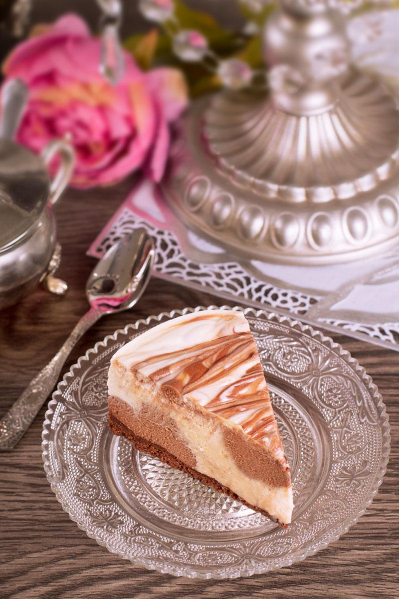 Tarta de queso marmolada sin horno