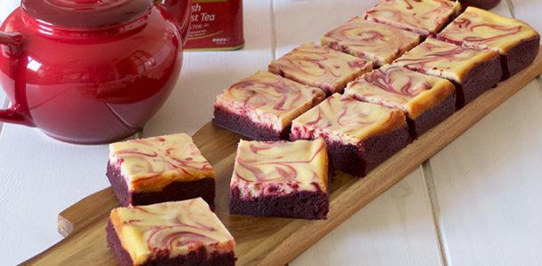 brownie cheesecake y red velvet